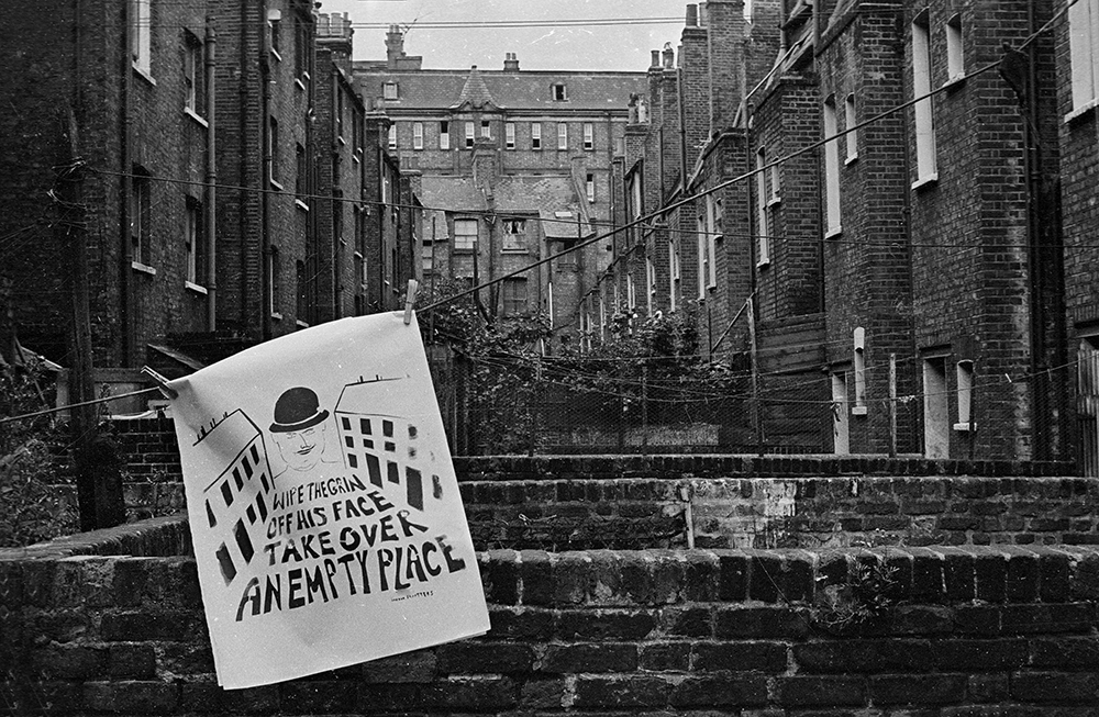 March on Tower Hamlets council in protest against the eviction of squatters from private rented property that was being kept empty in Myrdle Strreet and Parfett Street, Whitechapel, London, 1973.