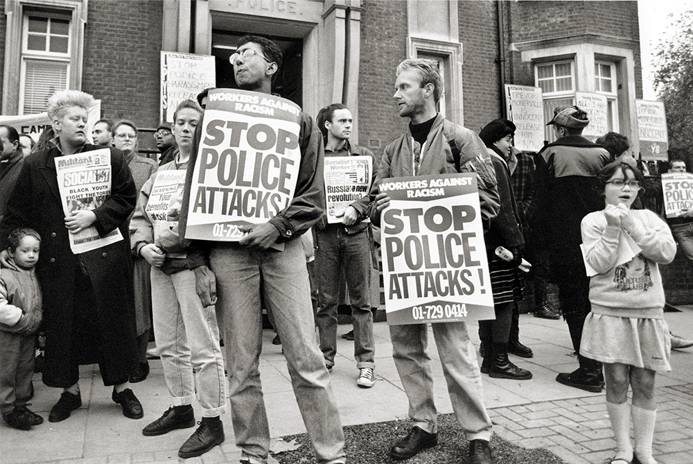 Protest against deaths at the hands of the police. London, 7 November 1987.